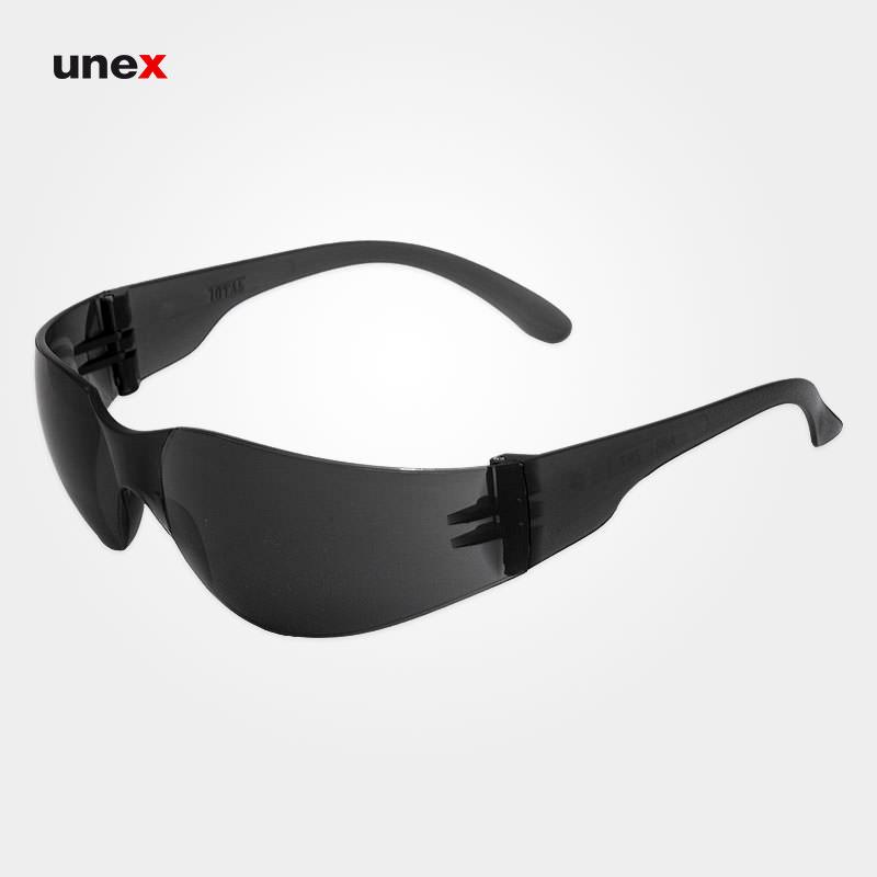 عینک ایمنی ای تی صد و نوزده – AT 119 ، توتاص – TOTAS ، عینک فریم دار ، رنگ سفید و دودی