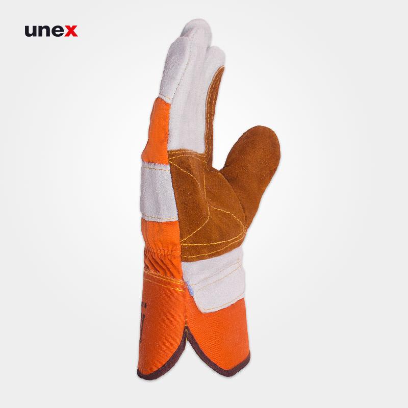 دستکش چرمی کف دوبل ، فراری – FERRARI ، دستکش چرمی ، رنگ نارنجی