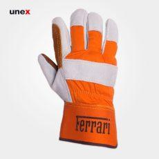 دستکش کف دوبل FERRARI نارنجی