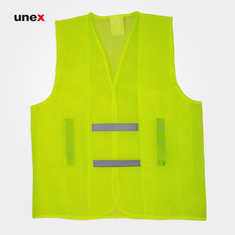 جلیقه توری شبرنگ دار ، پنج هزار و سیصد و شصت و دو - ۵۳۶۲ ، فلایتون - FLYTON ، جلیقه ، رنگ سبز فسفری