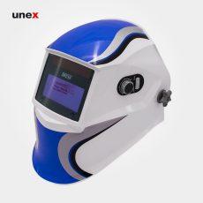 کلاه ماسک اتوماتیک – AUTOMATIC ، ای تی هزار و یک – AT 1001 ، توتاص – TOTAS  ، کلاه ماسک طلق های محافظ صورت ، رنگ آبی – سفید
