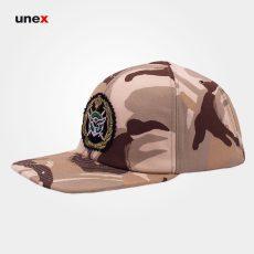 کلاه لبه دار کتان ، سربازی ارتشی  ، ابزار ایمنی شهپر ،  چند رنگ ، ساخت ایران