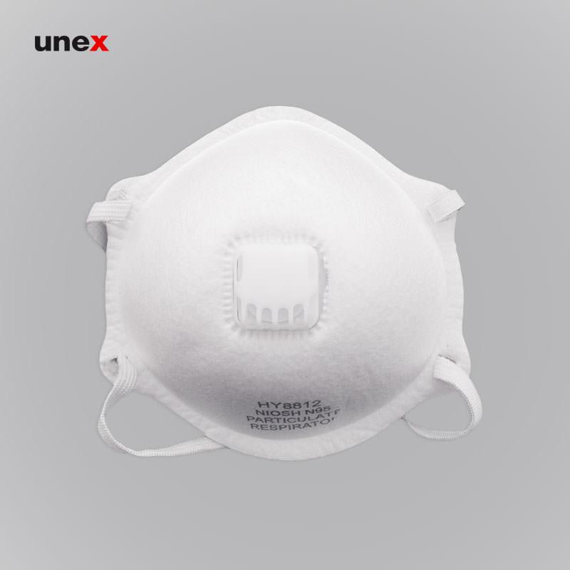 ماسک تنفسی سوپاپ دار ان نود و پنج – N95 ، ماسک تنفسی ، رنگ سفید