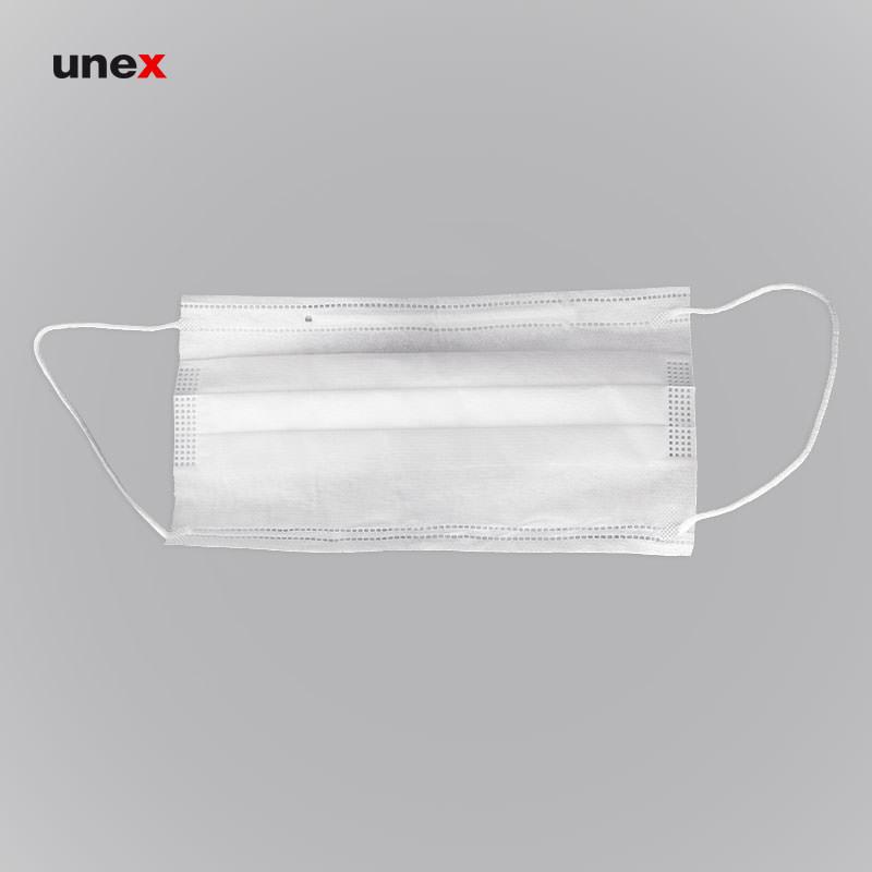 ماسک پزشکی ، ماسک تنفسی ، رنگ سفید ، ساخت ایران