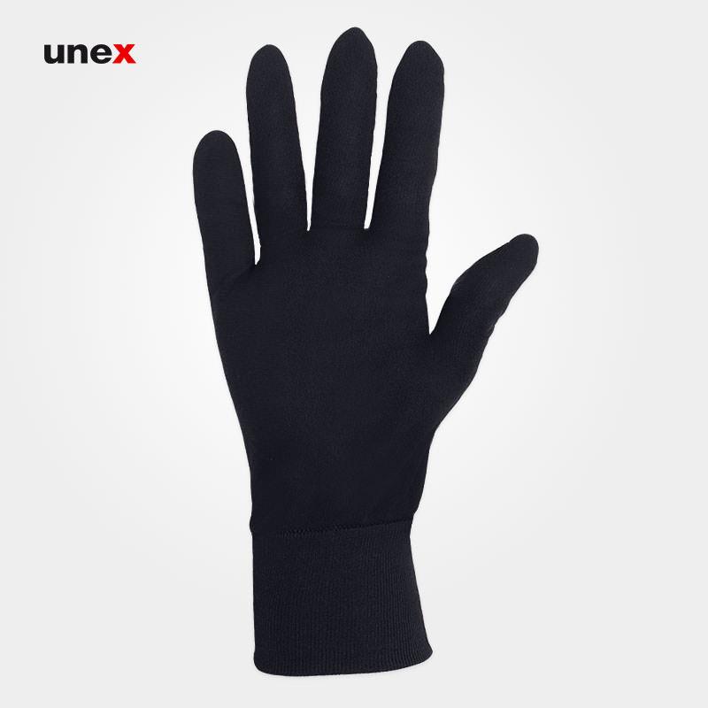 دستکش ضد حساسیت مردانه ، بهداد ، دستکش پارچه ای ، ۲۲۰ گرم  ، رنگ مشکی