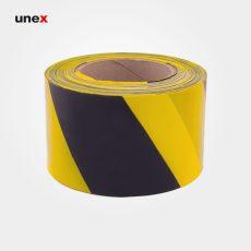 نوار خطر ، پلی اتیلن ،نوار خطر ، رنگ زرد – مشکی ، ۸ سانتی متری