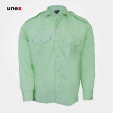 پیراهن انتظامی ناجا ، ابزار ایمنی شهپر ، لباس کار صنعتی ، رنگ سبز ، سایزلارج – L ، ساخت ایران