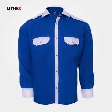 پیراهن کار ، ابزار ایمنی شهپر ، لباس کار صنعتی ، رنگ آبی ، سایز لارج – L ، ساخت ایران