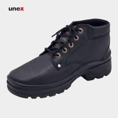 پوتین ایمنی البرز اشبالت، ای ترین – E.TRAIN، چرم مصنوعی ، کفش ایمنی ، رنگ مشکی ، در سایز ها ی مختلف