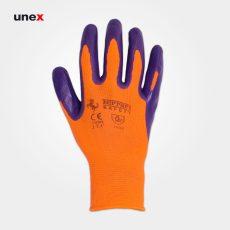 دستکش کف مواد فراری نارنجی بنفش