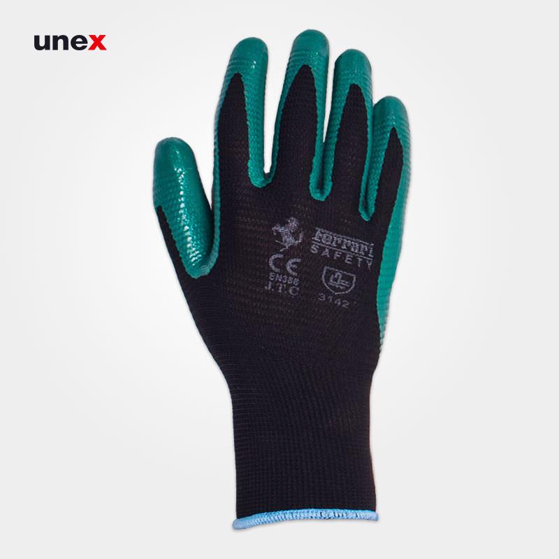 دستکش ضد برش شیاری فراری _ FERRARI ، دستکش ضد برش ، رنگ سبز