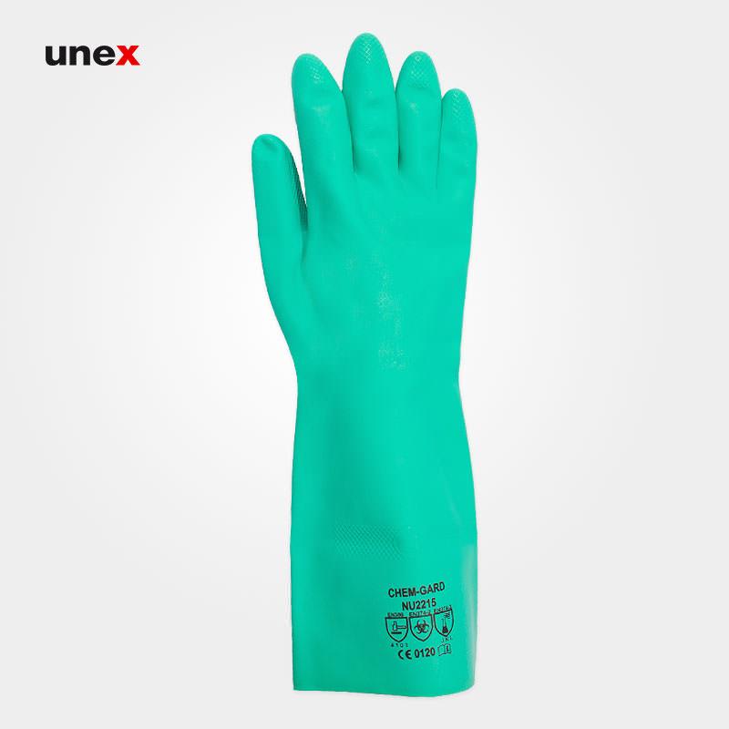 دستکش نیتریلی ، ان یو دو هزار و دویست و پانزده – NU2215 ، نستاح – NASTAH ، دستکش نیتریلی ، رنگ سبز ، ساخت مالزی