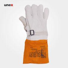 دستکش محافظ دستکش عایق برق SALSBURY سفید نارنجی