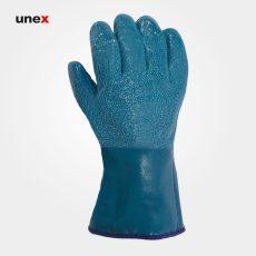 دستکش نیتریلی سمباده ای HAOLI NT NBR-TK سبز