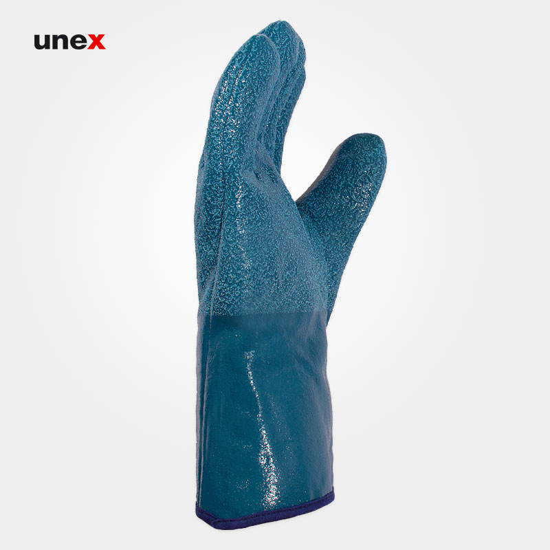 دستکش نیتریلی سمباده ای ان تی ان بی ا ر-تی کی -NT NBR-TK، هائولی – HAOLI، رنگ سبز، ساخت چین