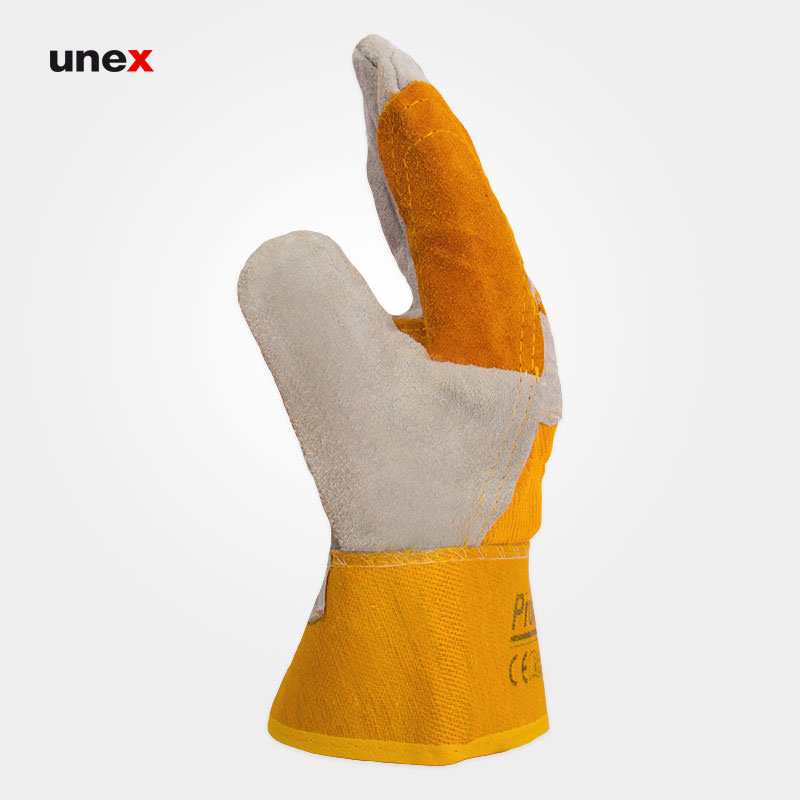 دستکش اشبالتی برزنتی کف دوبل، پرومکس - PROMAX ، دستکش چرمی ، ساخت پاکستان