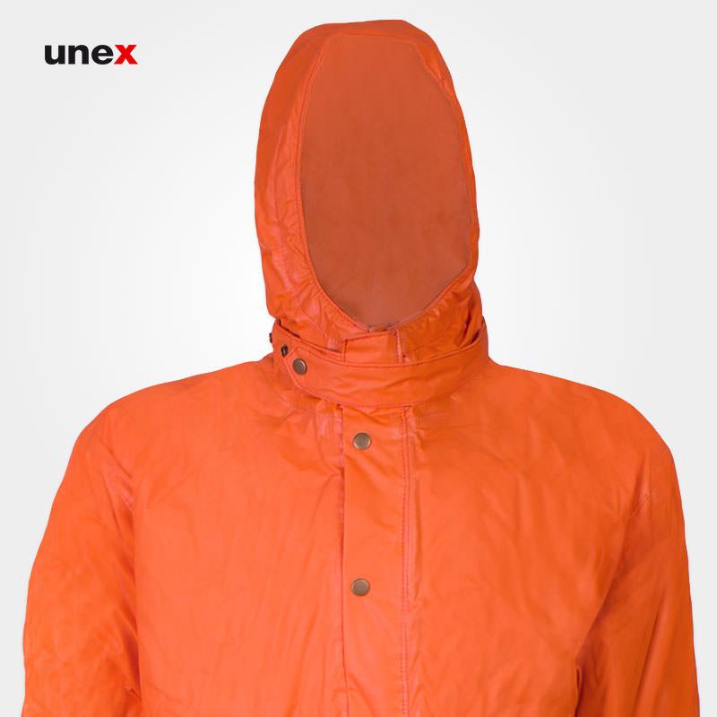 لباس یکسره مقاوم شیمیایی عایق برودت و بخار داغ، ام کی پی سی و هفت - MKP37، چین MEIKANG، نارنجی، ساخت چین