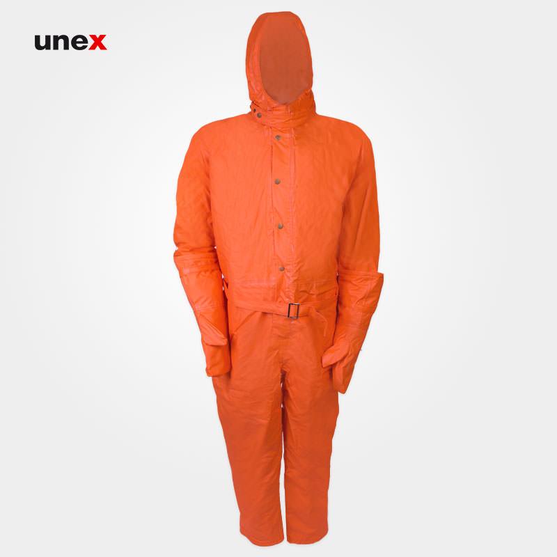 لباس یکسره مقاوم شیمیایی عایق برودت و بخار داغ، ام کی پی سی و هفت – MKP37، چین MEIKANG، نارنجی، ساخت چین