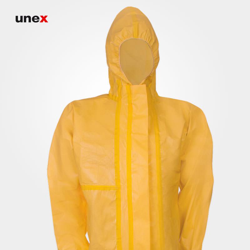 لباس مقاومت شیمیایی سبک، ریچم پنج هزار- RAYCHEM 5000، ریچم - REYCHEM، لباس کار شیمیایی، زرد، ساخت چین
