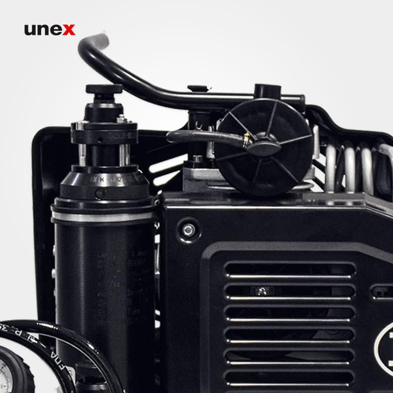 کمپرسور بنزینی، ال دبلیو صد بی - LW100B، ال اند دبلیو - L&W، کمپرسورهای هوای تنفس، مشکی، ساخت آلمان