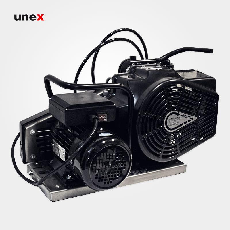 کمپرسور الکتریکی تک فاز، ال دبلیو صد ایی یک – LW100E1، ال اند دبلیو – L&W، کمپرسورهای هوای تنفس، مشکی، ساخت آلمان