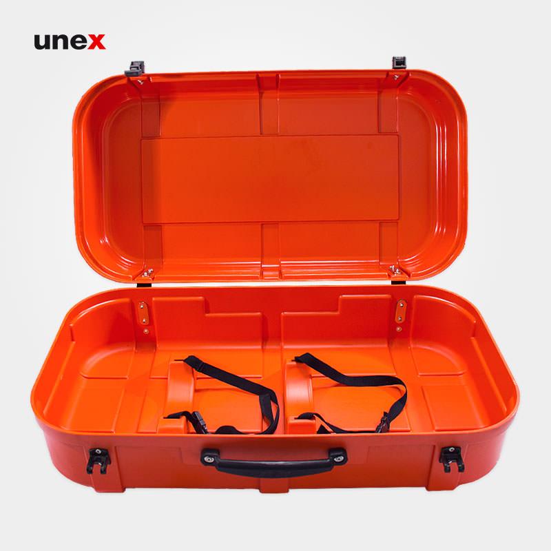 جعبه حمل سیستم تنفسی، اسپاسیانی - SPASCIANI، تجهیزات تنفسی با سیلندر های هوای فشرده، نارنجی، ساخت ایتالیا