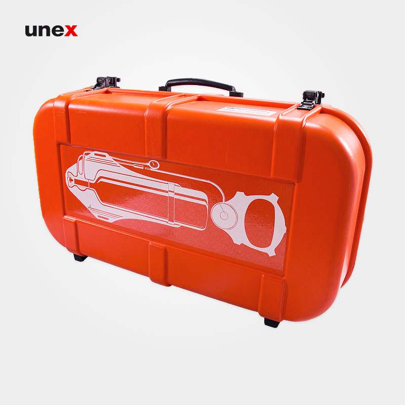 جعبه حمل سیستم تنفسی، اسپاسیانی – SPASCIANI، تجهیزات تنفسی با سیلندر های هوای فشرده، نارنجی، ساخت ایتالیا