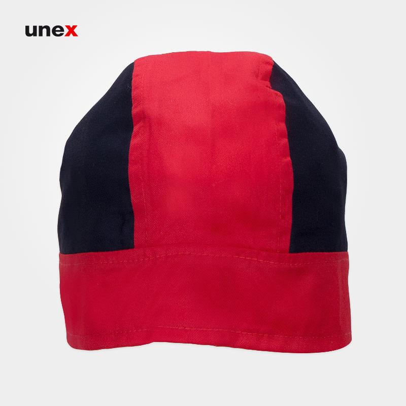 کلاه ترکی طرح دو - ۲، ابزار ایمنی شهپر ، کلاه آشپزی ، رنگ قرمز - مشکی ، ساخت ایران