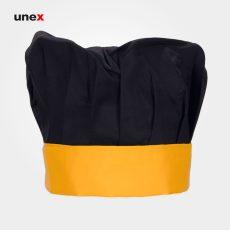 کلاه پفکی سرآشپز ، ابزار ایمنی شهپر ، کلاه آشپزی ، رنگ مشکی – زرد ، ساخت ایران