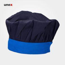 کلاه پفکی سرآشپز ، ابزار ایمنی شهپر ، کلاه آشپزی ، رنگ سرمه ای – آبی ، ساخت ایران