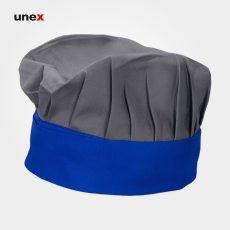 کلاه پفکی سرآشپز، ابزار ایمنی شهپر ، کلاه آشپزی ، رنگ طوسی – آبی ، ساخت ایران