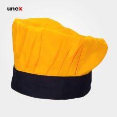 کلاه سرآشپز یونکس پفکی زرد مشکی