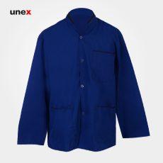 لباس رستورانی آشپزی ، ابزار ایمنی شهپر ، لباس کار صنعتی ، رنگ آبی ، در سایزهای مختلف