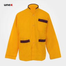 لباس یونکس رستورانی ساده زرد