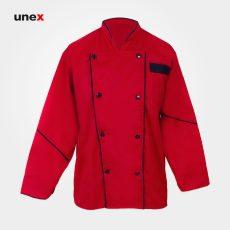 لباس کار رستورانی سر آشپزی ، ابزار ایمنی شهپر ، لباس کار صنعتی ، در رنگ ها و سایز های مختلف