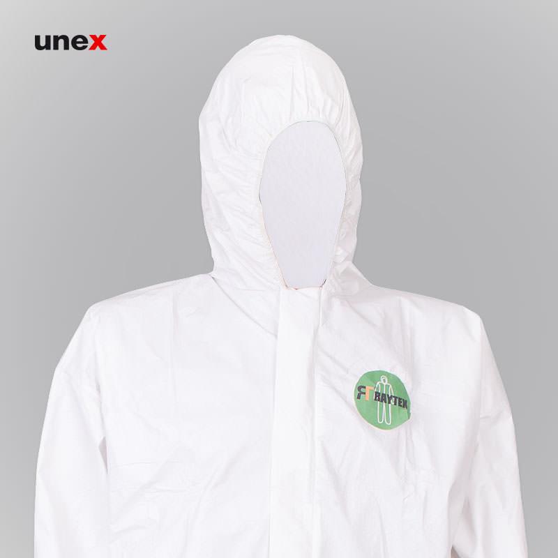 لباس یکبار مصرف پلی اتیلن، MEIKANG چین، لباس کار صنعتی، سفید، چینی
