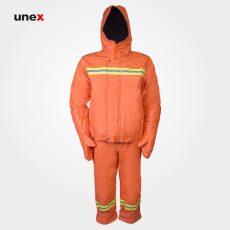 لباس دو تکه مقاوم شیمیایی، MKP 37، چین MEIKANG، لباس کار شیمیایی، زرد، چینی