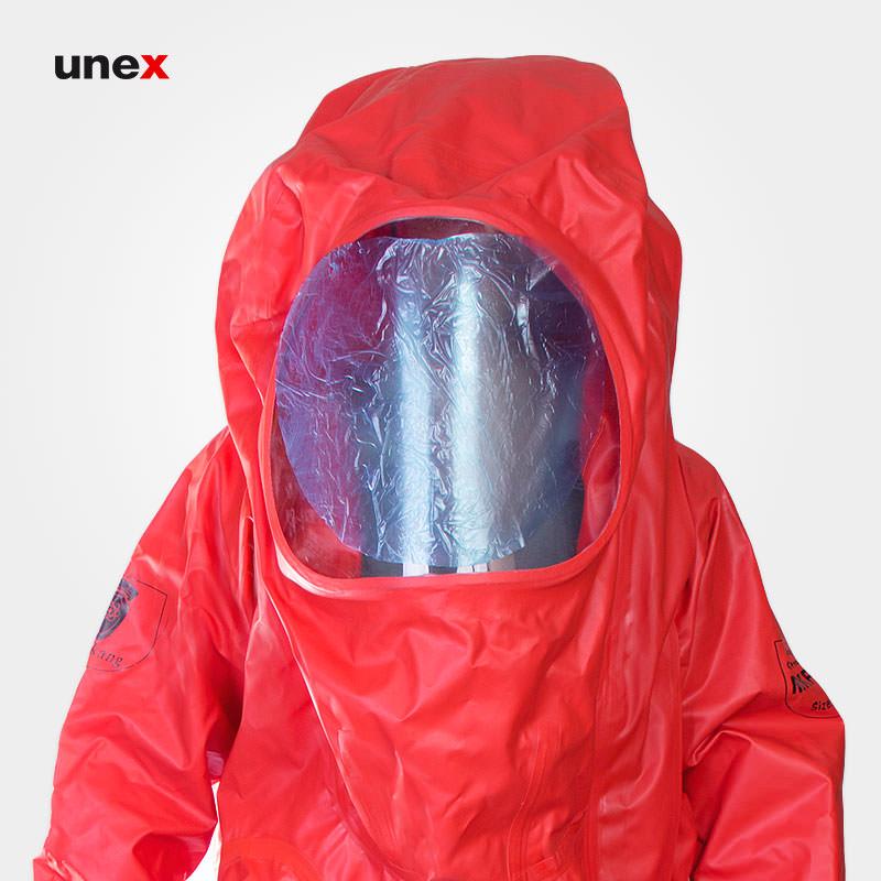 لباس ضد گاز پی وی سی - MKF 06 ،PVC، چین MEIKANG، لباس کار شیمیایی، قرمز، ساخت چین