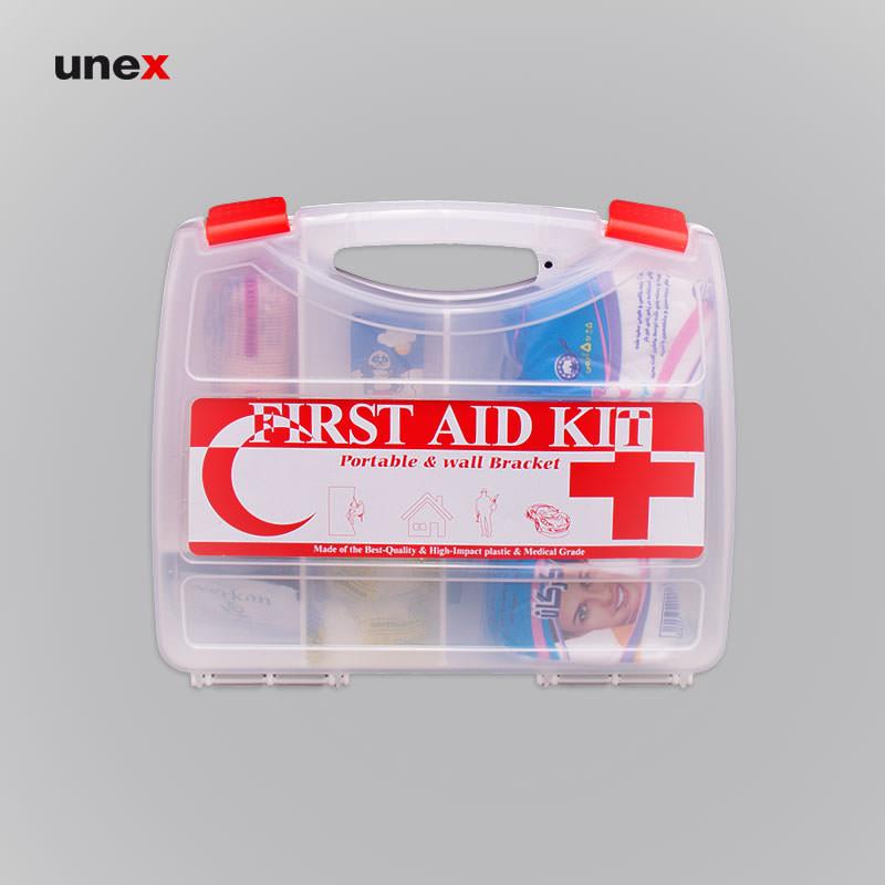 جعبه کمک های اولیه سامسونتی کوچک، ابزار ایمنی شهپر، سفید، ساخت ایران