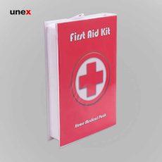 جعبه کمک های اولیه کلاسوری، ابزار ایمنی شهپر، قرمز، ساخت ایران