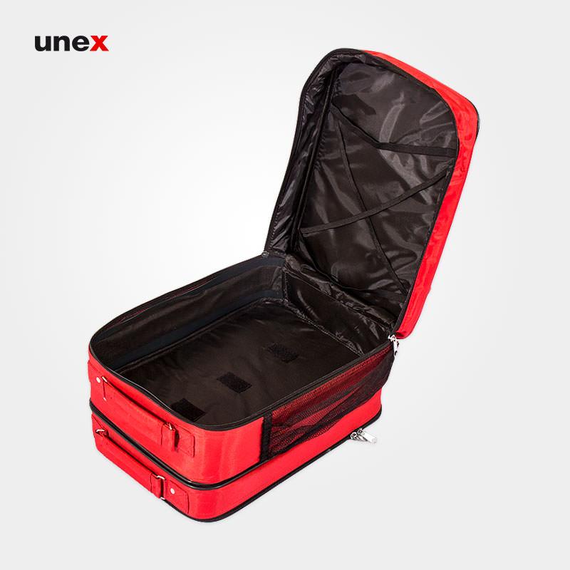 کیف چمدانی کمک های اولیه برزنتی، دوقلو ، ابزار ایمنی شهپر، جعبه کمک های اولیه، قرمز، ایرانی
