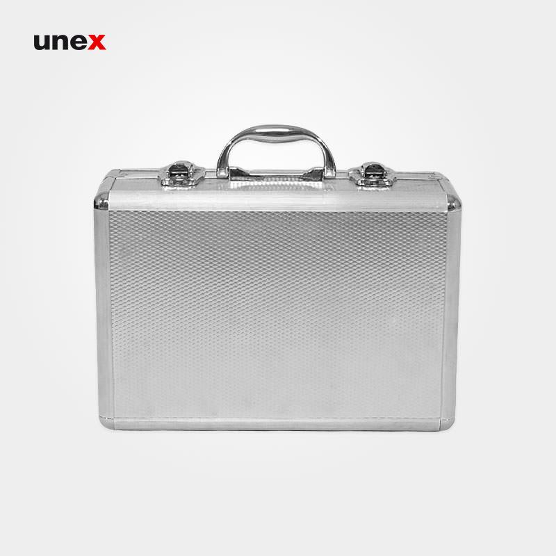 جعبه کمک های اولیه، آلومینیومی، ابزار ایمنی شهپر، نقره ای، ایرانی