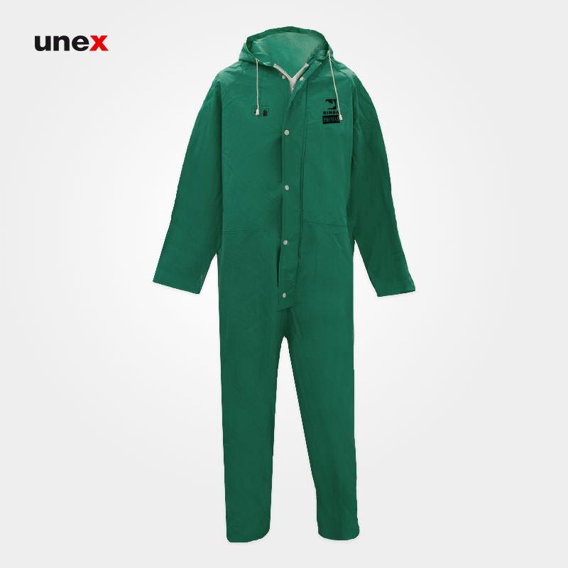 لباس یکسره ضد اسید، پرومکس – PROMAX، لباس کار شیمیایی، سبز، چینی