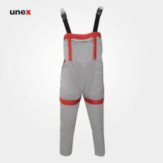لباس کار یونکس دوبنده سیلوری، استخوانی قرمز