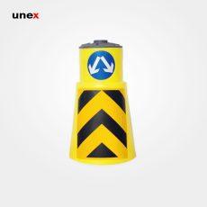 بشکه ترافیکی ۱۰۵ سانتی متری با درب و شبرنگ، ابزار ایمنی شهپر، بشکه، زرد، ایرانی