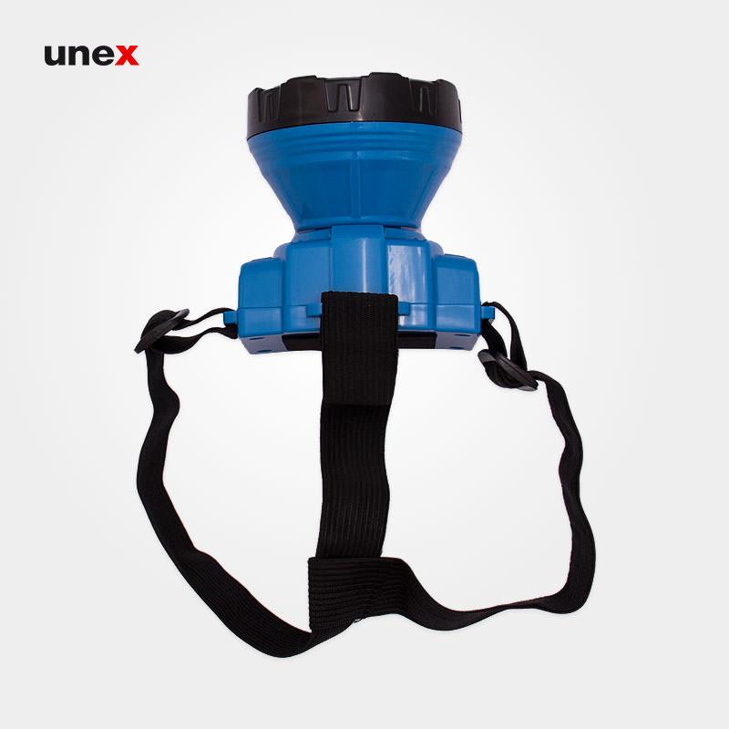 چراغ روی کلاه شارژی RL1023، ابزار ایمنی شهپر، ۱۵ LED، چراغ روی کلاه، آبی، چینی