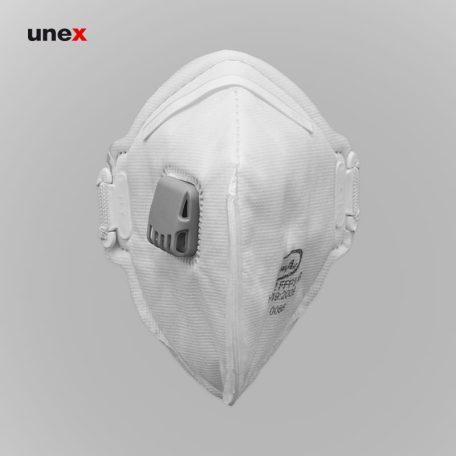 ماسک FFP3 سوپاپ دار HY8232، کلین ایر - CLEAN AIR، ماسک های سوپاپ دار، سفید، ایرانی