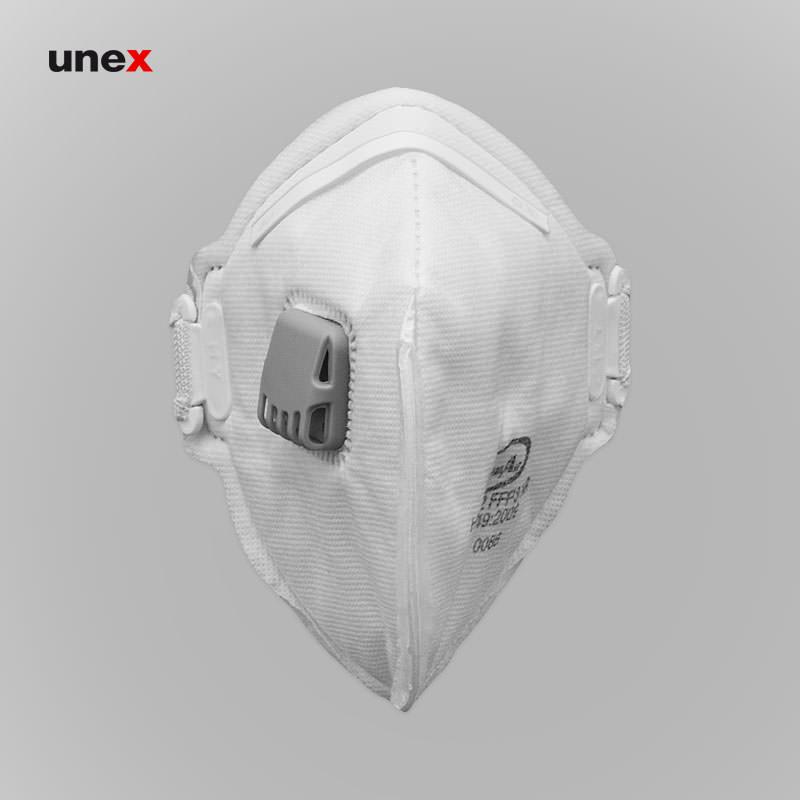 ماسک FFP3 سوپاپ دار HY8232، کلین ایر – CLEAN AIR، ماسک های سوپاپ دار، سفید، ایرانی