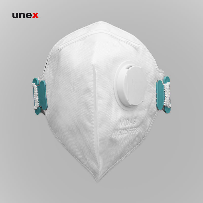ماسک سوپاپ دار HY8226، میداس – MIDAS، ماسک های سوپاپ دار، سفید، ایرانی