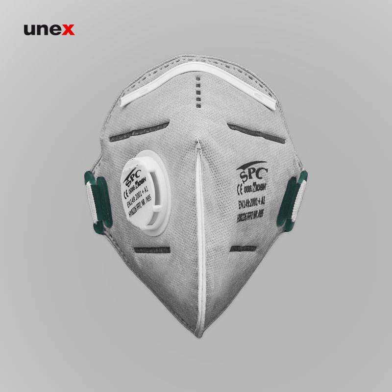 ماسک تنفسی سوپاپ دار کربن اکتیو ۸۲۲۶، اس پی سی – SPC ، ماسک های سوپاپ دار، طوسی، چینی